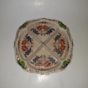 Vintage 1920s Art Deco Divided Dish